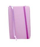 Cuaderno púrpura con la dirección de la Internet Fotografía de archivo