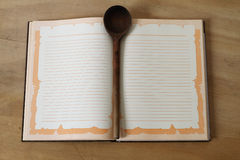 Cuaderno para las recetas Imágenes de archivo libres de regalías
