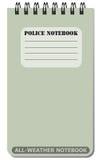 Cuaderno para todo clima usado por la policía Imagen de archivo libre de regalías