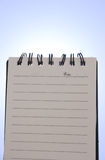 Cuaderno retroiluminado fotografía de archivo libre de regalías