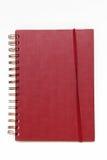 Cuaderno rojo Fotografía de archivo