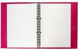 Cuaderno rojo Imágenes de archivo libres de regalías