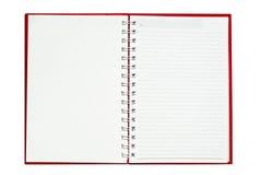 Cuaderno rojo Fotos de archivo libres de regalías