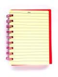 Cuaderno rosado fotos de archivo