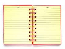 Cuaderno rosado imagen de archivo libre de regalías