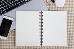 Cuaderno vacío Imagen de archivo