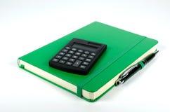 Cuaderno verde Fotos de archivo libres de regalías