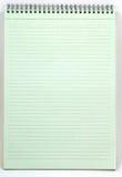 Cuaderno verde Fotografía de archivo libre de regalías