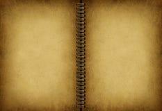 Cuaderno viejo en blanco Imagen de archivo libre de regalías