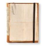 Cuaderno viejo en un blanco Imagen de archivo