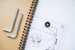 Cuaderno y dibujo de estudio Imagenes de archivo