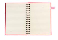 Cuaderno y papel de carta para el plan del Año Nuevo 2017 de la nota Imágenes de archivo libres de regalías
