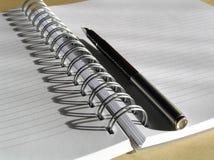 Cuaderno y pluma 7 Fotografía de archivo libre de regalías