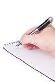 Cuaderno y una pluma. foto de archivo libre de regalías
