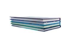 Cuadernos aislados Fotos de archivo