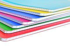 Cuadernos aislados en el fondo blanco Imagenes de archivo