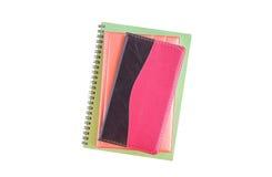 Cuadernos aislados en el fondo blanco Fotos de archivo libres de regalías