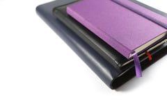 Cuadernos aislados en el fondo blanco Foto de archivo libre de regalías