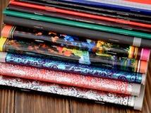 Cuadernos coloridos de la fantasía Fotos de archivo libres de regalías