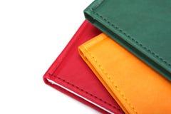 Cuadernos en el fondo blanco imagen de archivo libre de regalías