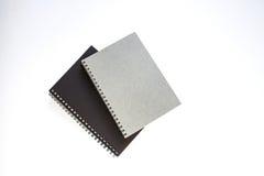Cuadernos en el fondo blanco Fotografía de archivo libre de regalías