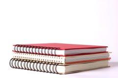 Cuadernos espirales aislados Fotografía de archivo