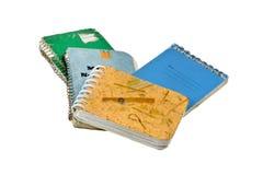 Cuadernos gastados Imagen de archivo