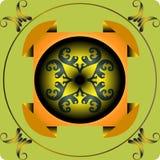 Cuadrado abstracto anaranjado Fotografía de archivo libre de regalías