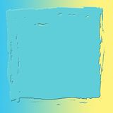 Cuadrado abstracto azul y amarillo Ilustración del Vector