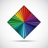 Cuadrado abstracto del color Fotos de archivo