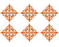 Cuadrado anaranjado Imagen de archivo