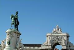 Cuadrado antiguo del comercio, Lisboa Fotos de archivo
