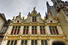 Cuadrado ayuntamiento - Brujas, Bélgica el Burg foto de archivo libre de regalías