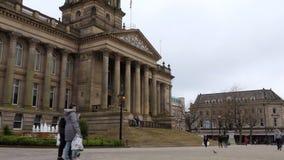 Cuadrado ayuntamiento y de Victoria de Bolton almacen de metraje de vídeo