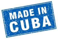 Cuadrado azul de Cuba hecho en sello ilustración del vector