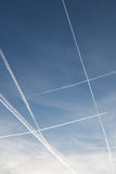 Cuadrado azul en el cielo Fotografía de archivo