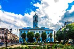 Cuadrado central 05 de Chernivtsi foto de archivo libre de regalías