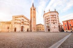 Cuadrado central de Parma Imagen de archivo