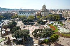 Cuadrado central en Barcelona Imagenes de archivo