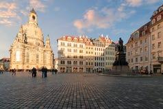 Cuadrado central en Dresden, foto del día Fotografía de archivo