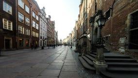 Cuadrado central en Gdansk almacen de video