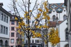 Cuadrado central en la ciudad vieja de St Gallen Imagenes de archivo
