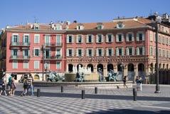 Cuadrado central en Niza, Francia Imagen de archivo libre de regalías