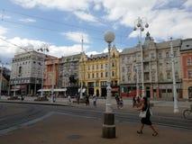 Cuadrado central en Zagreb imágenes de archivo libres de regalías