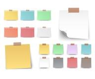 Cuadrado colorido y blanco de las etiquetas engomadas Fotos de archivo libres de regalías