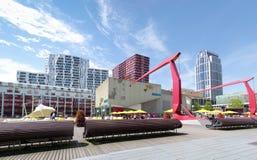 Cuadrado cultural en Rotterdam Foto de archivo libre de regalías