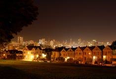 Cuadrado de Álamo en la noche Foto de archivo