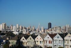 Cuadrado de Álamo - San Francisco Fotografía de archivo