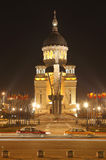 Cuadrado de Avram Iancu en Cluj Napoca, Rumania Foto de archivo