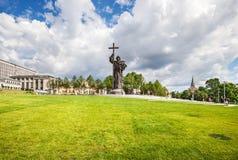 Cuadrado de Borovitskaya cerca del Kremlin Fotos de archivo